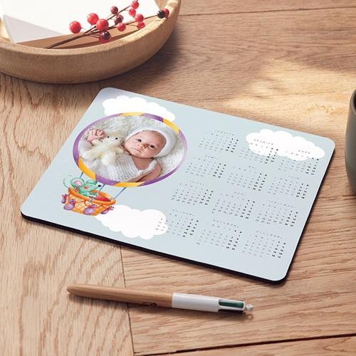 Tapis de souris personnalisé - Le ballon rond dans les nuages 6920