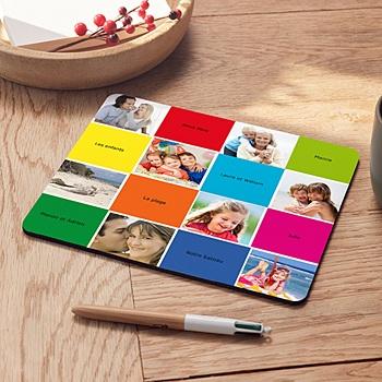 Tapis de souris personnalisé - Carrés colorés - 2