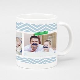 Mug Personnalisé - Multiphotos - bleu - 2