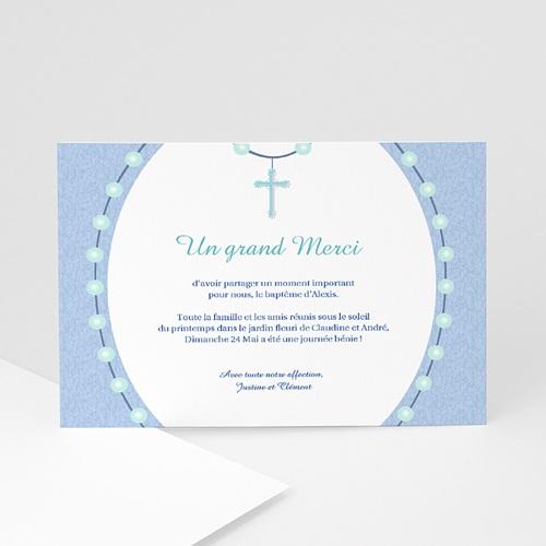 Remerciements Baptême Garçon - Perles Bleues 6979