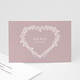 Remerciements Mariage Personnalisés - Vintage Romance, gris - invitation Mariage - 3