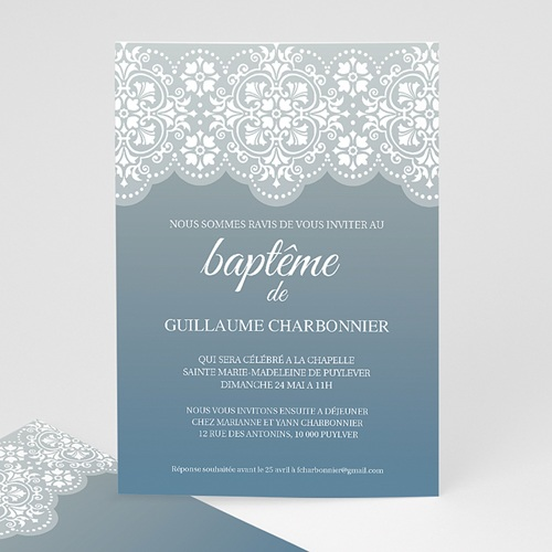 Faire-part Baptême Garçon - Azulejos 7277
