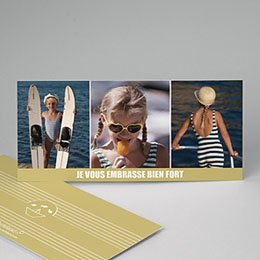 Cartes Multi-photos 3 & + - Marinière beige - 3
