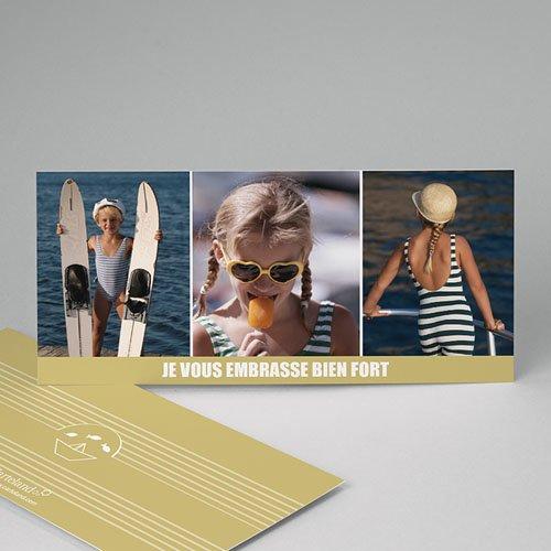 Cartes Multi-photos 3 & + - Marinière beige 7633