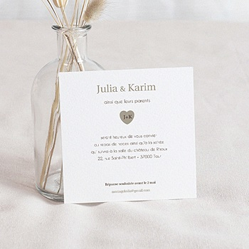 Cartons d'Invitation Personnalisés - Lui+Elle - 2