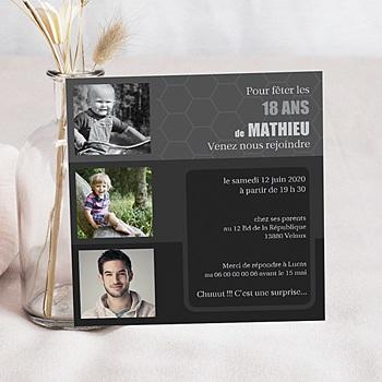 carte invitation anniversaire 18 ans cr er carteland. Black Bedroom Furniture Sets. Home Design Ideas