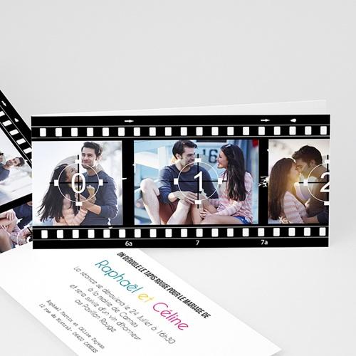 Faire-Part Mariage Personnalisés - Modèle Cinéma 8360