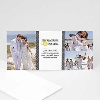 Remerciements Mariage Personnalisés - Mariage Estival - gris et jaune - 3