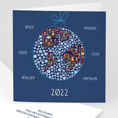 Cartes de Voeux Professionnels - Ensemble Créons 8398