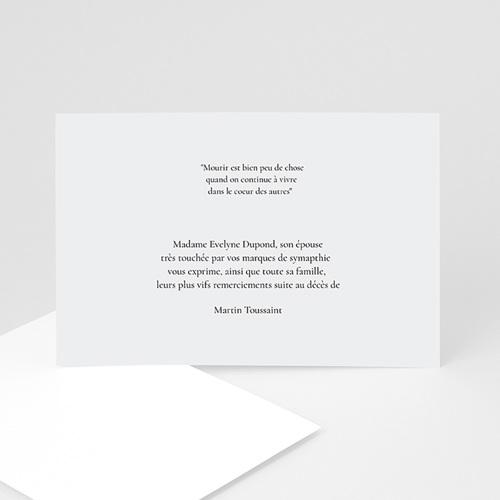 Remerciements Décès Universel - Encens  8496