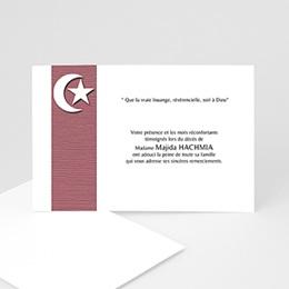 Remerciements Décès Musulman - Etoile de plénitude mauve - 3