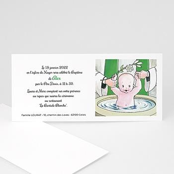 Faire-part Baptême Fille - L'immersion - 3