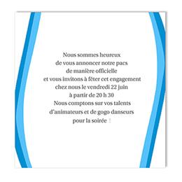 Carton Invitation Personnalisé - Un gars + un gars - 3