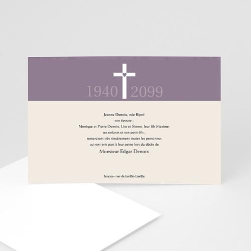 Remerciements Décès Chrétien - Sacré Coeur  8626