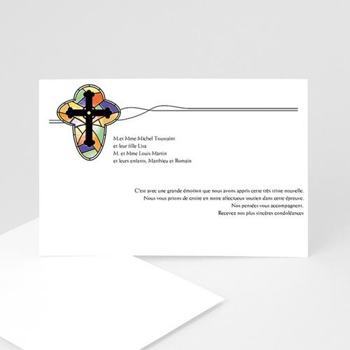 Remerciements Décès Chrétien - Croix de lumière -2 8630