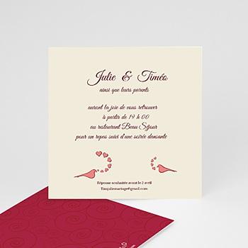 Cartons d'Invitation Personnalisés - Deux colombes pour un Oui ! - 2