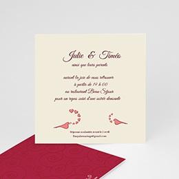 Carton Invitation Personnalisé - Deux colombes pour un Oui ! - 2