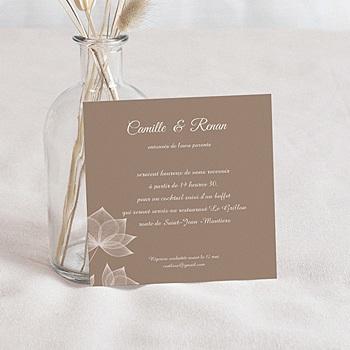Cartons d'Invitation Personnalisés - Elégance chocolat - 2