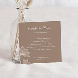 Carton Invitation Personnalisé - Elégance chocolat - 2