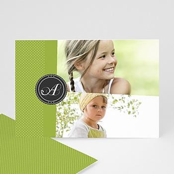 Cartes Multi-Photos 2 photos - Multi photo 2 - Ruban Vert - 3
