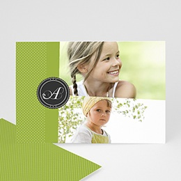 Cartes Multi-Photos 2 photos - Multi photo 2 - Ruban Vert - 3