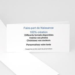 Faire-Part Naissance Fille - 100% CREATION LIBRE - 42 x 10 8690