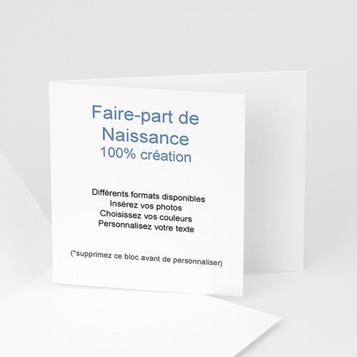 Faire-Part Naissance Fille - 100% CREATION - 21x10 8694