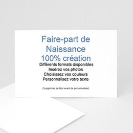 Faire-Part Naissance Fille - 100% CREATION - 15 x 10 8698