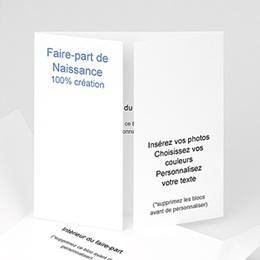 Faire-Part Naissance Fille - 3 VOLETS VIERGES 8710