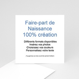 Faire-Part Naissance Fille - 100% CREATION - 10 x 10 8713