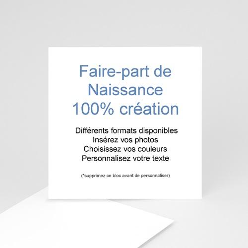 Faire-Part Naissance Fille - 100% CREATION - 10 x 10 8713