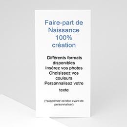 Tous les Faire-Part Naissance - 100% CREATION - 10 x 21  8736