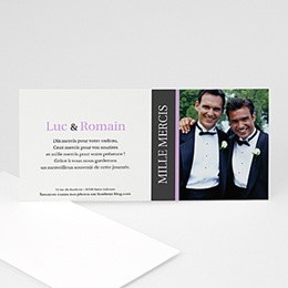 Carte Remerciements Pacs - Nous deux - invitation photo, remerciements - 3