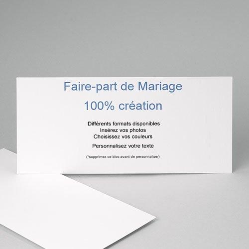 Faire-Part Mariage Personnalisés - 100% Création - 21 x 10 8910