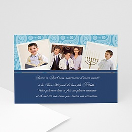 Carte Remerciements Bar-Mitzvah - Multi-photos - 3