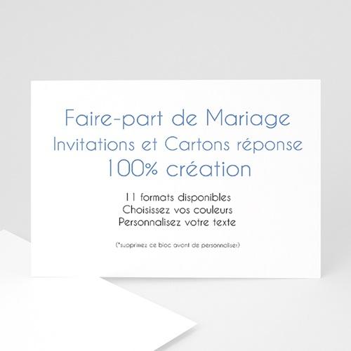 Faire-Part Mariage Personnalisés - 100% Création  - 17,7 x 12,7 8940