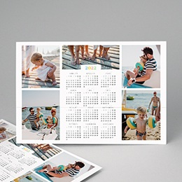 Calendrier Monopage - Arc-en-ciel de couleurs - calendrier mural - 3