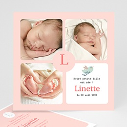Faire-Part Naissance Fille - Girly - 3