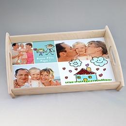 Plateaux personnalisés avec photos - Plateau Fête des Parents - 2