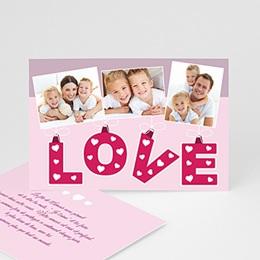 Cartes Saint-Valentin - Coeur d'Amour - 3