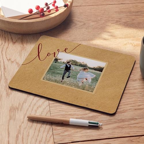 Tapis de souris personnalisé - Tapis de fleurs rouges 9590