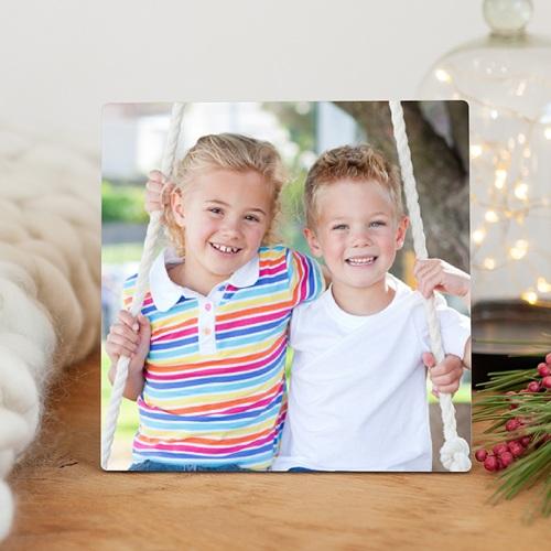 Cadre photo en bois - Cadre Photo Carré avec support 9671