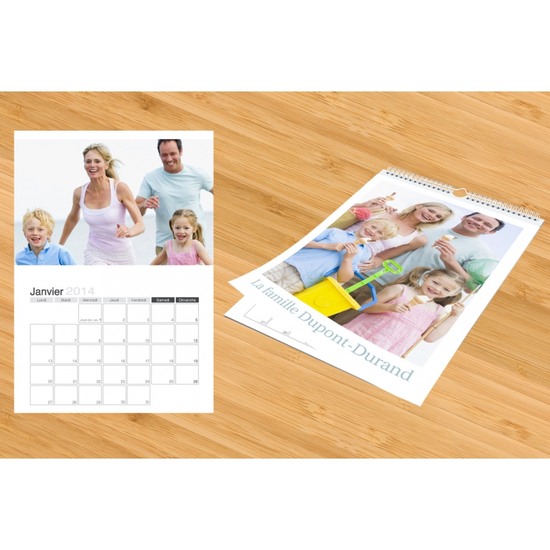 Calendrier photo 2017 mural planning multi photos a4 for Planning mural 2017