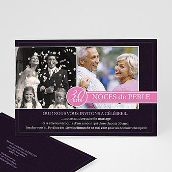 Invitations Anniversaire Mariage - Du bouton à la fleur - 3