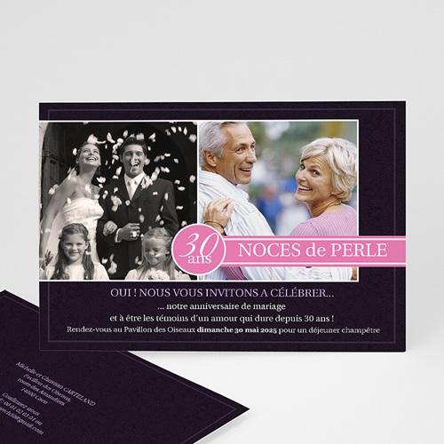 Invitations Anniversaire Mariage - Fleurs de Mariage 990