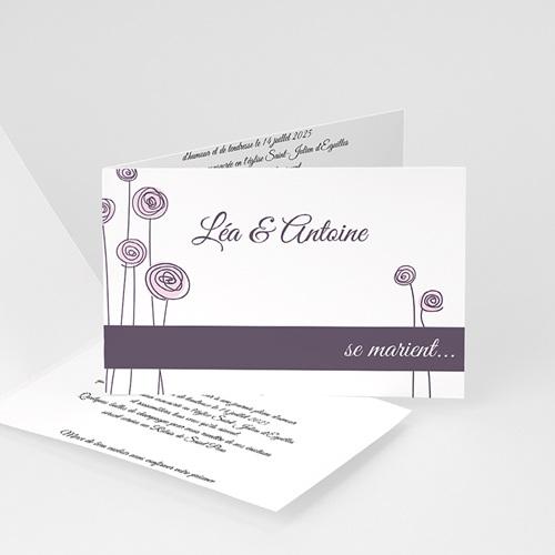 Faire-Part Mariage Personnalisés - Illustrations florales 994