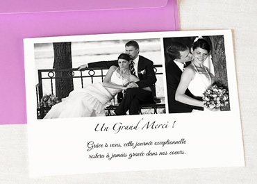mariage blog carte remerciement mariage photo. Black Bedroom Furniture Sets. Home Design Ideas