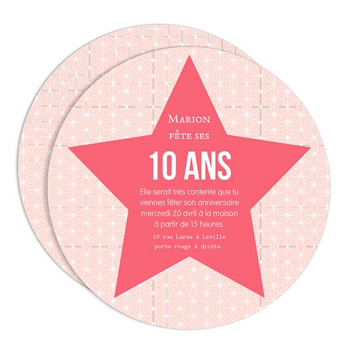 Carte Anniversaire 10 Ans Fille