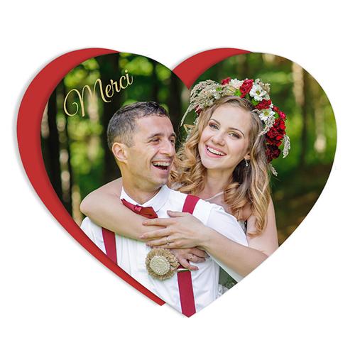 remerciement mariage original coeur