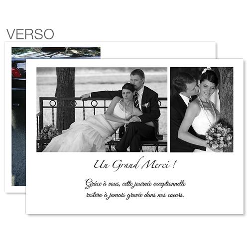 remerciements mariage classique